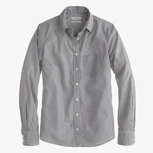 J Crew Striped Poplin Everyday Boy Shirt